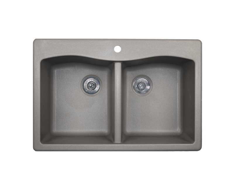 Swanstone Qz03322ed 173 Swanstone Qzed 3322 Kitchen Sink Granite Double Bowl Metallic Mckillican
