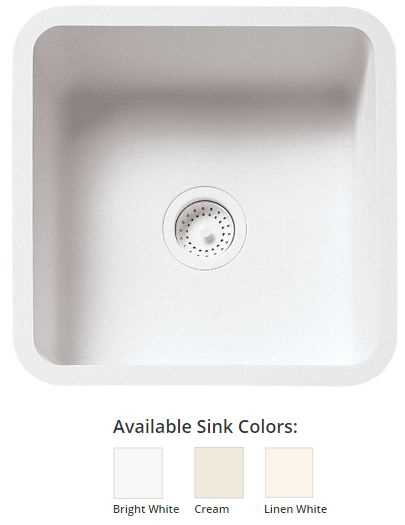 Wilsonart GI BK1515 CREAM Kitchen Sink BK1515 Cream | McKillican